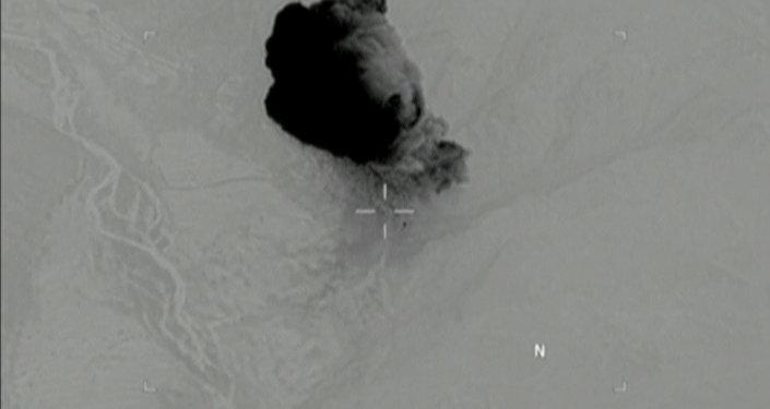 ABD'nin GBU-43/B bombasıyla Afganistan'da düzenlediği saldırının ilk görüntüleri