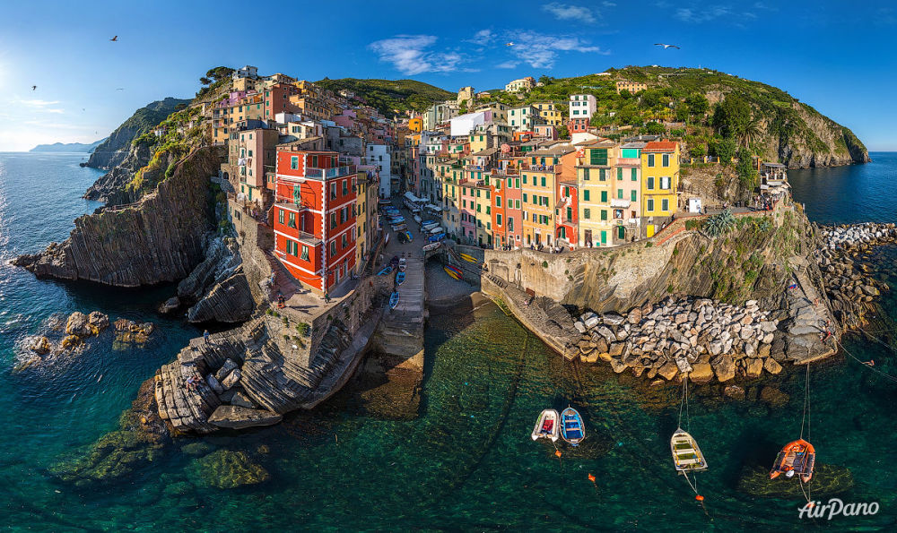 Riomaggiore komünü, İtalya.