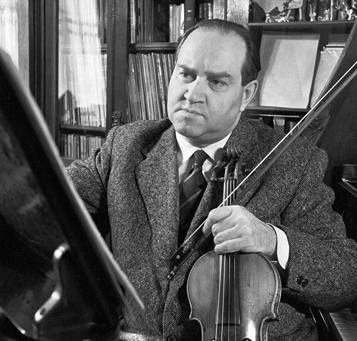Ünlü Sovyet kemancı David Oistrah