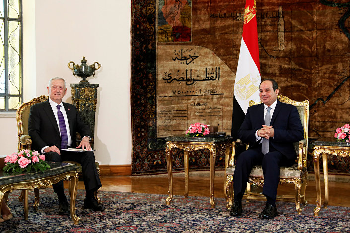 ABD Savunma Bakanı James Mattis- Mısır Cumhurbaşkanı Abdülfettah El Sisi