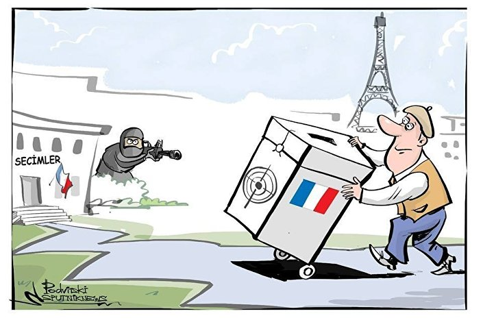 Cumhurbaşkanlığı seçimine hazırlanan Fransa'da terör saldırısı