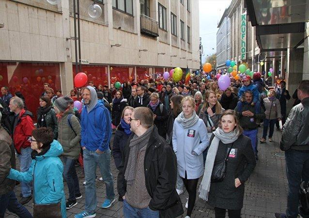 Almanya için Alternatif (AfD) partisinin Köln kentinde düzenlediği kongre protesto edildi