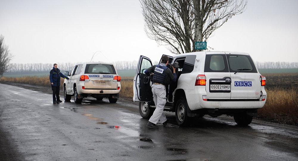 Donbass'ta görev yürüten AGİT misyonu