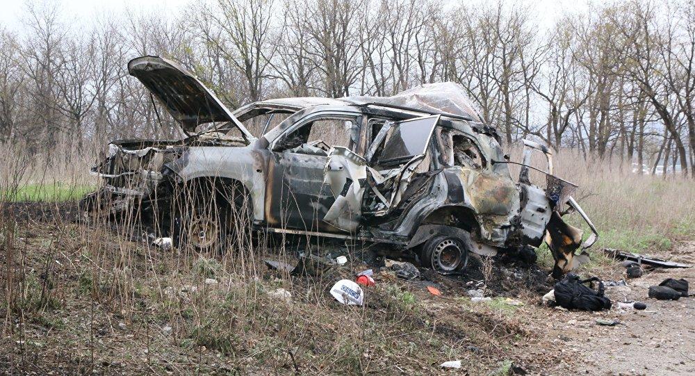 Donbass'ta AGİT Ukrayna Özel Gözlem Misyonu aracında meydana gelen patlama