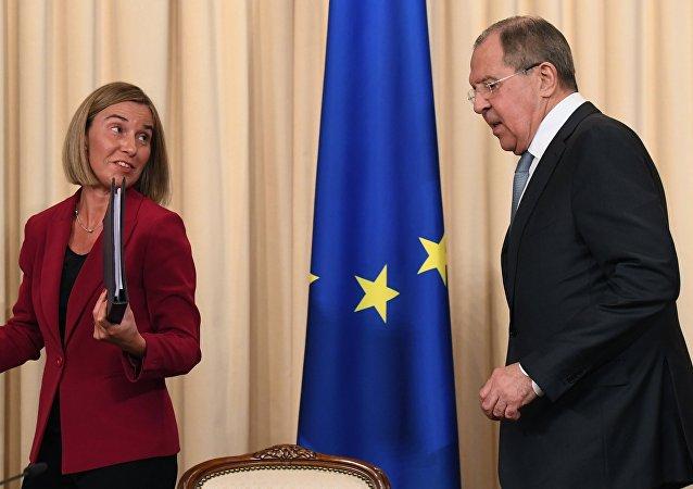Rusya Dışişleri Bakanı Sergey Lavrov - AB Dışişleri ve Güvenlik Politikaları Yüksek Temsilcisi Federica Mogherini