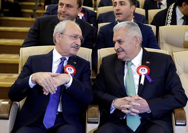 Başbakan Binali Yıldırım ve CHP Genel Başkanı Kemal Kılıçdaroğlu