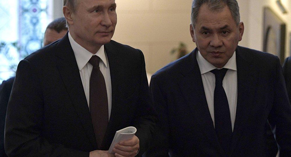 Rusya Devlet Başkanı Vladimir Putin- Rusya Savunma Bakanı Sergey Şoygu