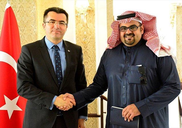 Suudi iş adamı Al-Ghamdi-Gümüşhane Valisi Okay Memiş
