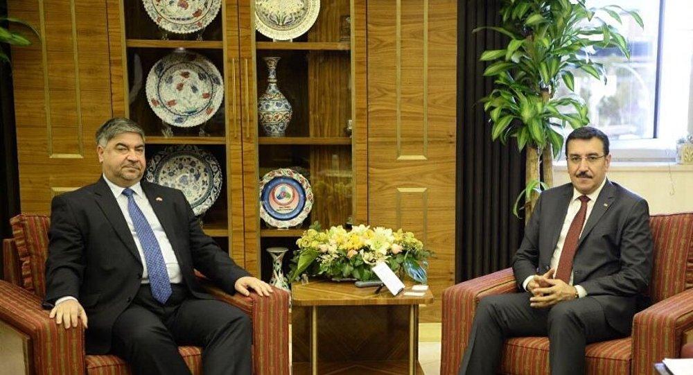 Irak'ın Ankara Büyükelçisi Hişam El Alavi - Gümrük ve Ticaret Bakanı Bülent Tüfenkci