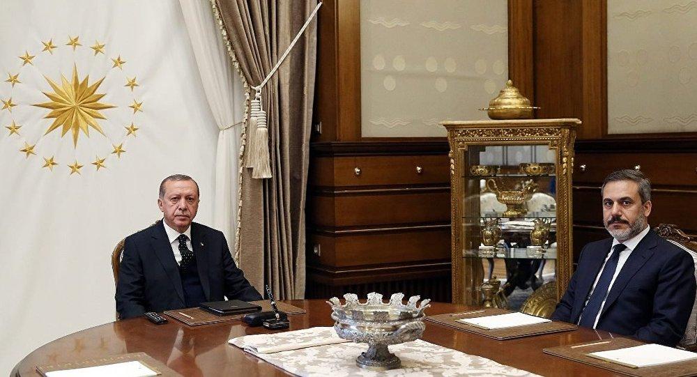 Cumhurbaşkanı Recep Tayyip Erdoğan-Milli İstihbarat Teşkilatı (MİT) Müsteşarı Hakan Fidan
