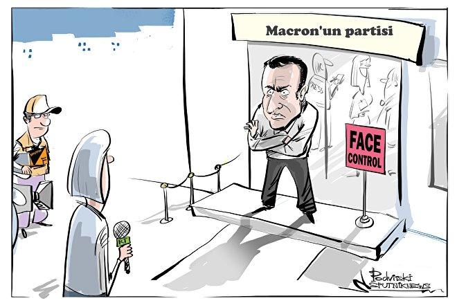 Macron'un parti merkezi, Sputnik ve RT'ye akreditasyon vermedi