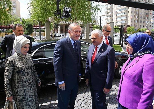Cumhurbaşkanı Recep Tayyip Erdoğan ve Başbakan Binali Yıldırım
