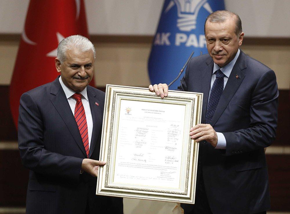 Cumhurbaşkanı Erdoğan, AK Parti'ye üye oldu