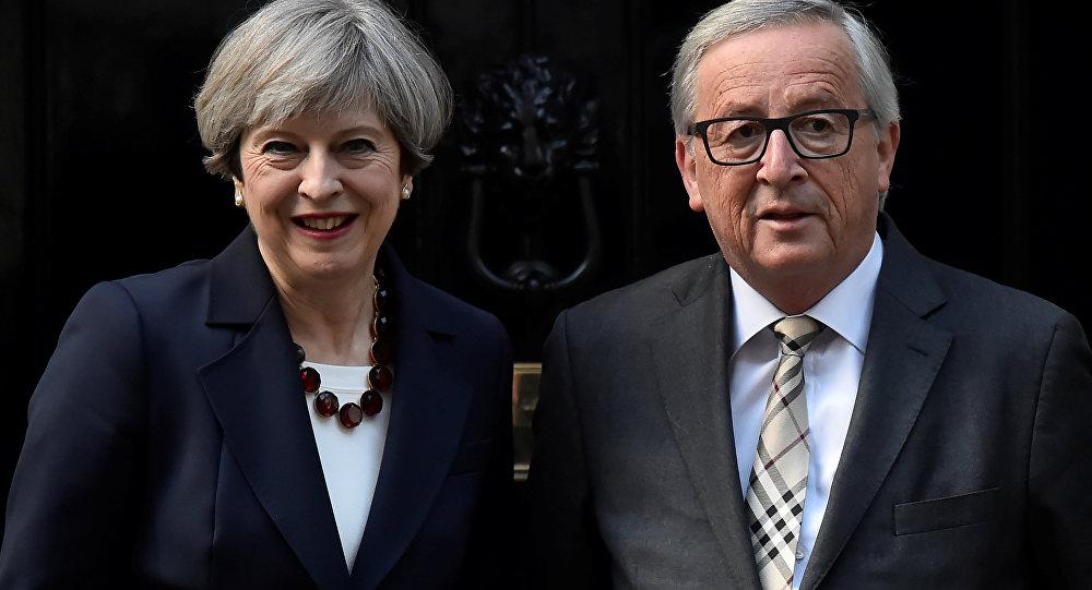 İngiltere Başbakanı Theresa May ve AB Komisyonu Başkanı Jean-Claude Juncker