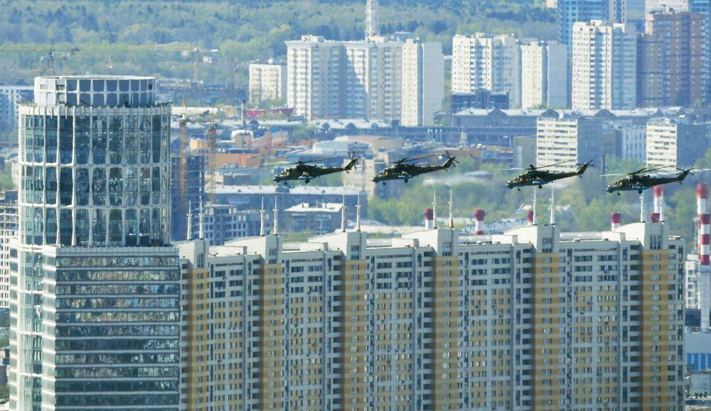 Mi-35 saldırı helikopterleri.