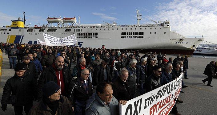 Yunanistan'da denizci grevi
