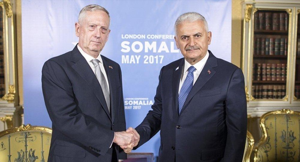 Başbakan Binali Yıldırım - ABD Savunma Bakanı James Mattis