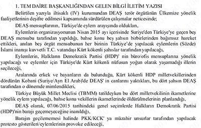 'IŞİD, 4 HDP'li milletvekilini infaz etmeyi planladı'