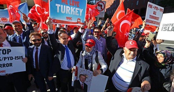 Cumhurbaşkanı Recep Tayyip Erdoğan, Washington'da