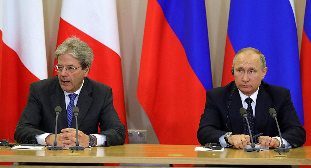 Rusya Devlet Başkanı Vladimir Putin, İtalya Başbakanı Paolo Gentiloni ile görüştü.