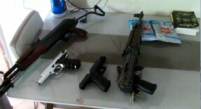 Operasyonda ele geçirilen silahlar
