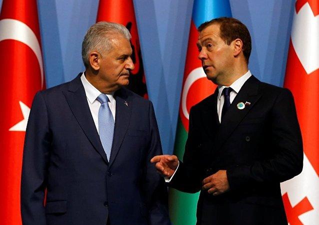 Başbakan Binali Yıldırım ve Rus mevkidaşı Dmitriy Medvedev