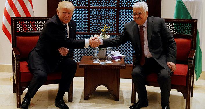 ABD Başkanı Donald Trump - Filistin Devlet Başkanı Mahmud Abbas