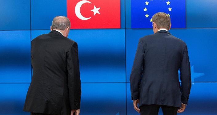 Cumhurbaşkanı Recep Tayyip Erdoğan- AB Konseyi Başkanı Donald Tusk