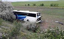 Ankara Kalecik ilçesi yakınlarında yolcu otobüsü şarampole yuvarlandı