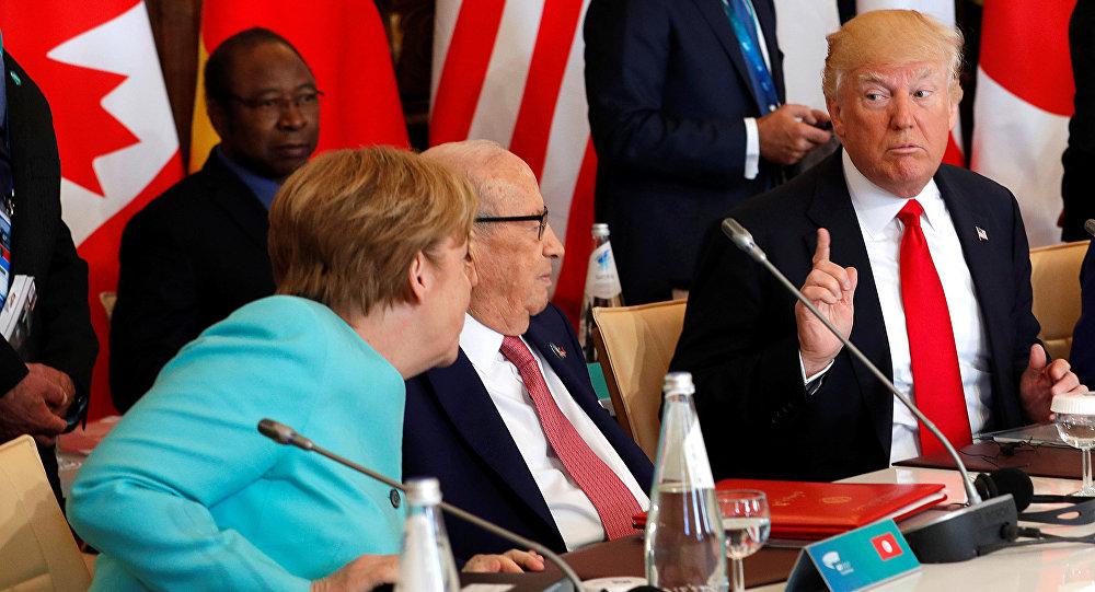 Angela Merkel - Donald Trump