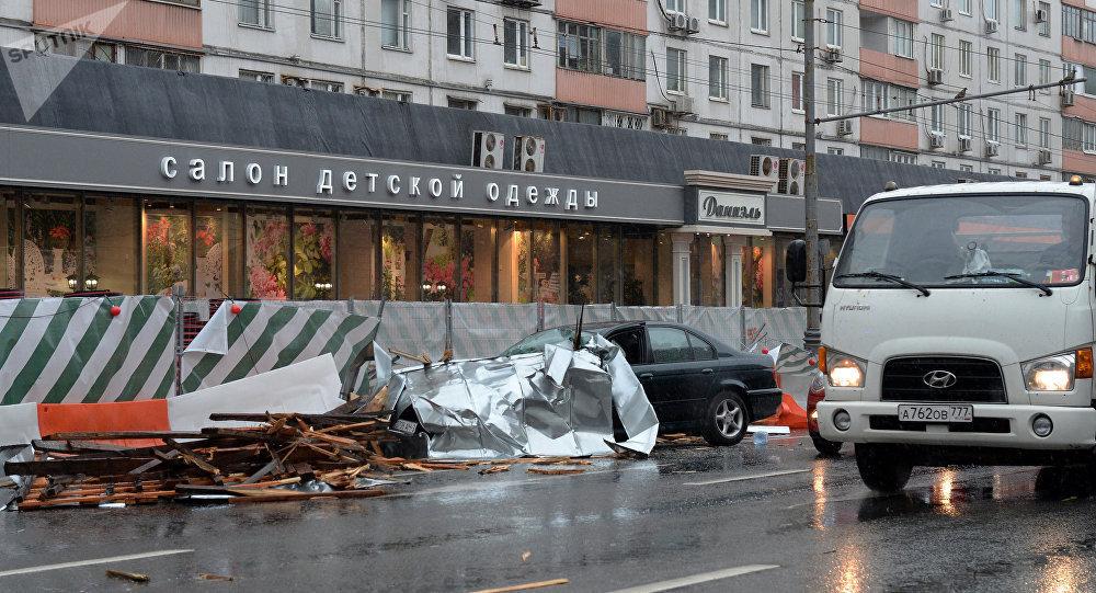 Moskova'da kasırga can aldı