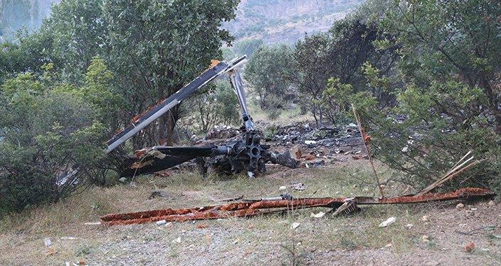 Şırnak'ta düşen helikopterin enkazı