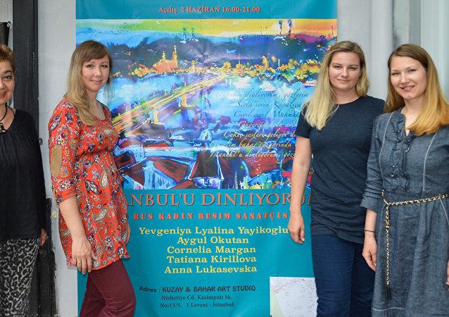 Rusya'dan 5 ressam, İstanbul'u kendi gözlerinden resmettikleri tablolarının yer aldığı 'İstanbul'u dinliyorum' başlıklı sergi bugün açılışını yapacak.