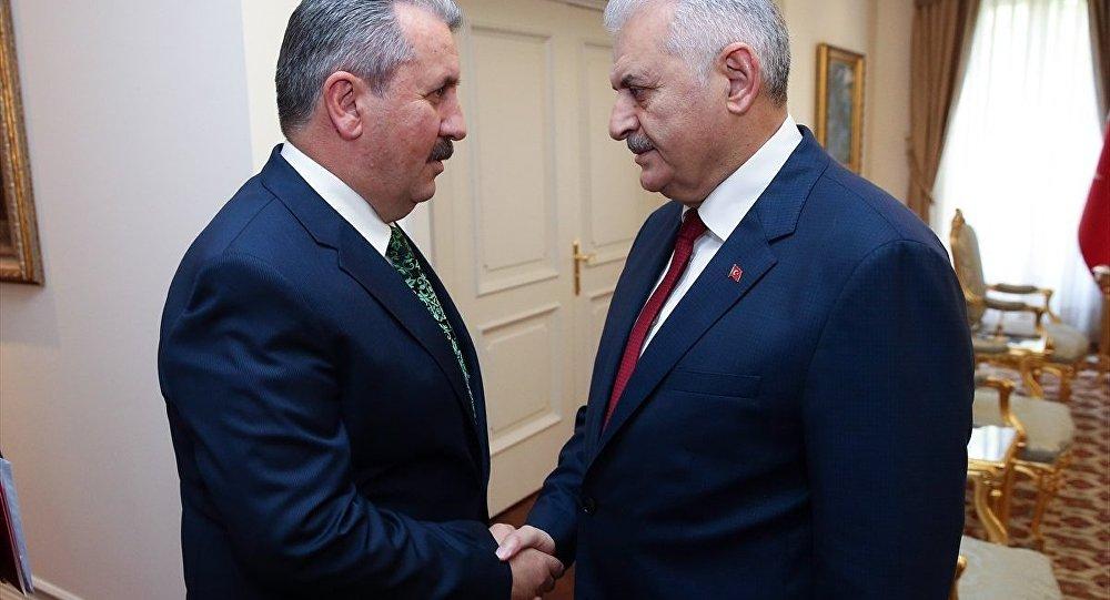 BBP Genel Başkanı Mustafa Destici ve Başbakan Binali Yıldırım