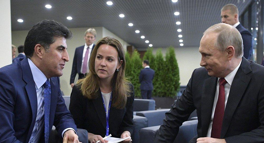Neçirvan Barzani - Vladimir Putin