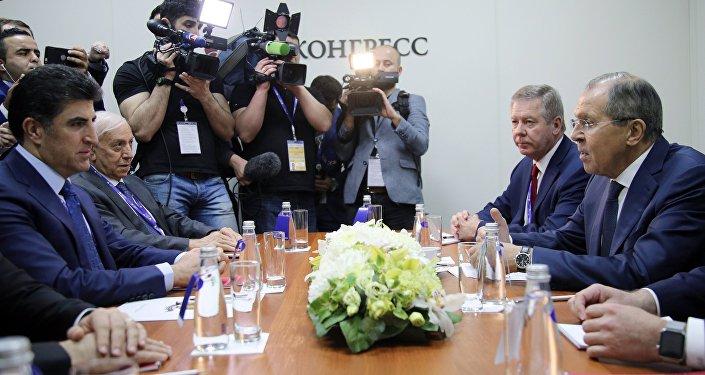 IKBY Başbakanı Neçirvan Barzani ve Rusya Dışişleri Bakanı Sergey Lavrov
