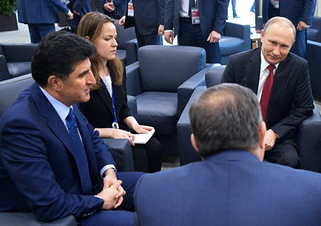 Rusya Devlet Başkanı Vladimir Putin ve IKBY Başbakanı Neçirvan Barzani
