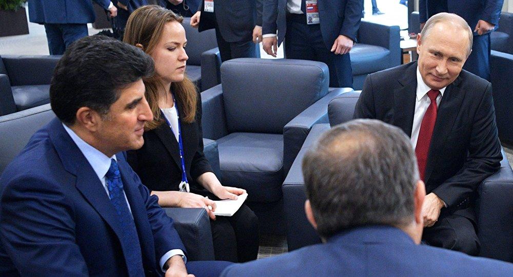 Putin, Barzani'yle Rosneft-IKBY işbirliğini konuştu.