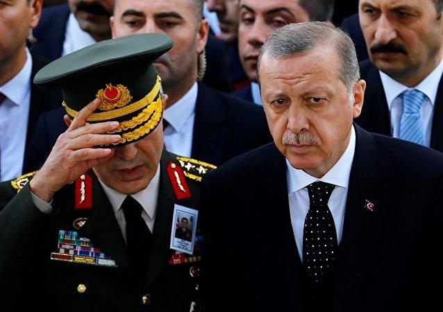 Genelkurmay Başkanı Hulusi Akar - Cumhurbaşkanı Recep Tayyip Erdoğan