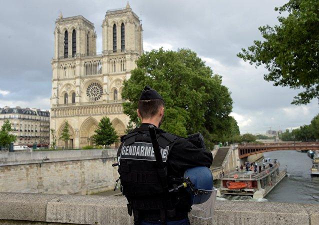 Notre Dame Katedrali-Fransız polisi