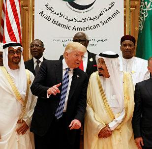 Donald Trump- Suudi Kralı Selman