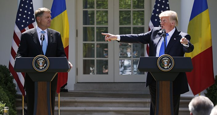 ABD Başkanı Donald Trump- Romanya Cumhurbaşkanı Klaus Iohannis