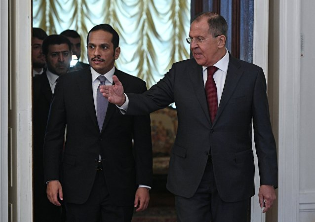 Suriye Dışişleri Bakanı Sergey Lavrov- Katar Dışişleri Bakanı Şeyh Muhammed bin Abdurrahman el Sani
