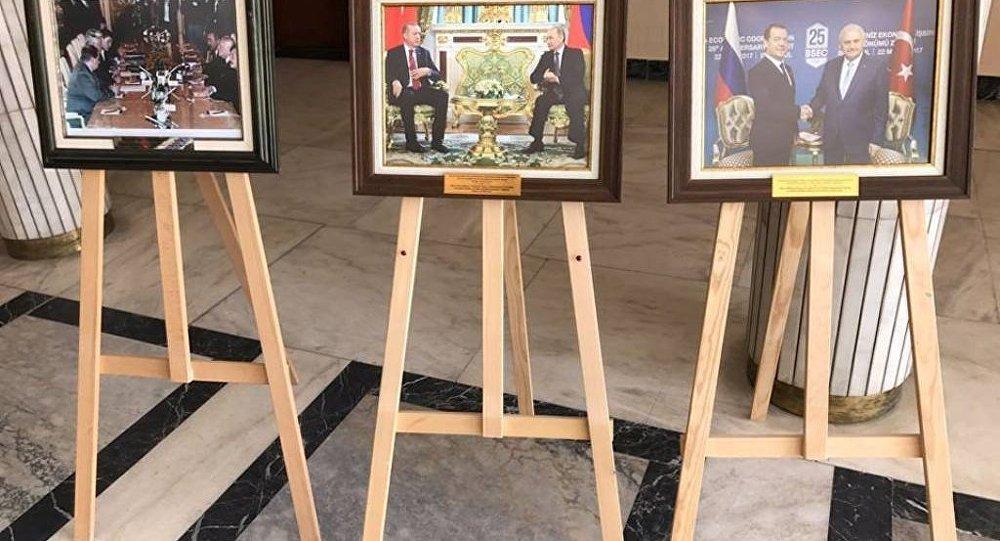 Rusya Büyükelçiliği'nde Rus-Türk ilişkilerinin 25 yılını anlatan fotoğraf sergisi