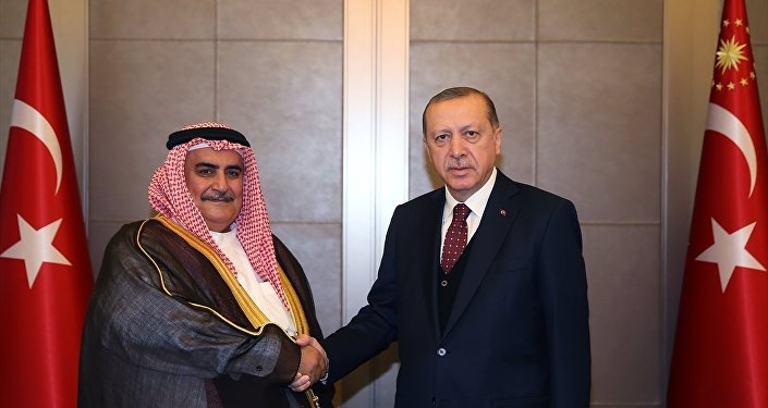 Cumhurbaşkanı Recep Tayyip Erdoğan - Bahreyn Dışişleri Bakanı Şeyh Halid bin Ahmed el Halife