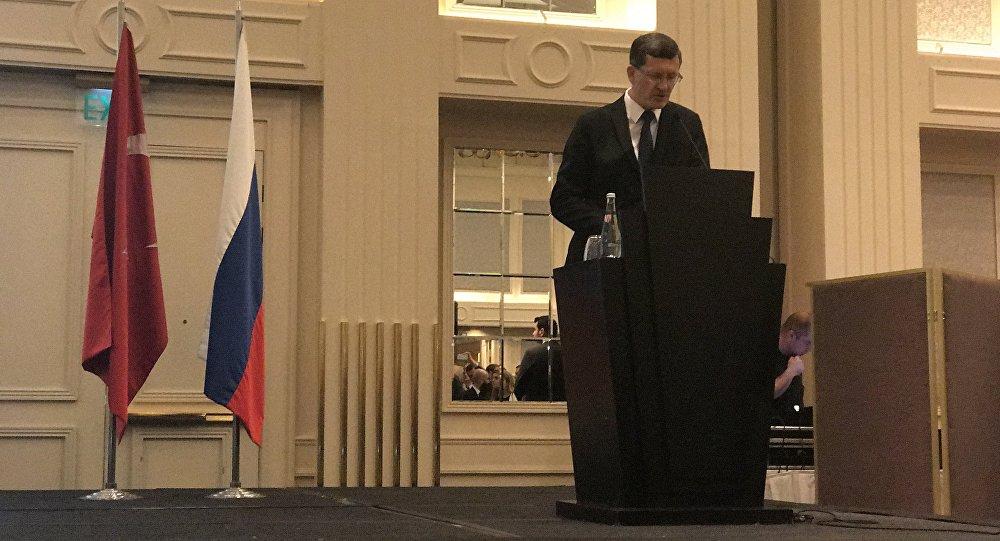 'Rusya Milli Günü' resepsiyonunun açılış konuşmasını İstanbul Başkonsolosu Podyelışev yaptı