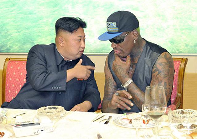 2014'te Rodman, Kim Jong-un'un doğumgünü için eski NBA oyuncuları karması ile Kuzey Koreli basketçiler arasında  bir maç ayarlamıştı.