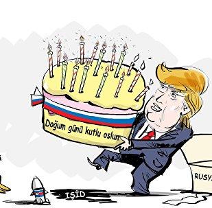 Trump doğum gününü kutluyor
