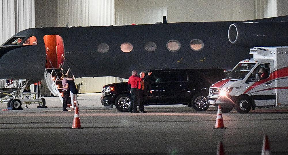 Otto Warmbier'i Cincinati'deki Lunken Havalimanı'na getiren uçak