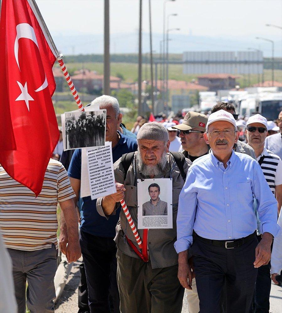 Adalet Yürüyüşü'nün ikinci gününden kareler